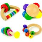 Bell Toddler Kid Baby Instrument Wooden Toy Musical Handbell Education Rattle