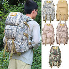 60L Hiking Camping Bag Army Military Tactical Trekking Rucksack Backpack Camo