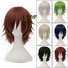 Внешний вид - Party 8 Colors 30cm Heat Resistant Layered Short Straight Anime Cosplay Wig+Cap