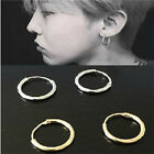 Small 12mm Silver Gold Plated  Endless Hoop Ear Stud Earrings Round Jewelry