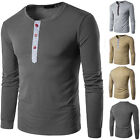 Men Fashion Slim Fit Cotton V-Neck Long Sleeve Casual T-Shirt Top Blouse 5 size