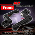 Black Shadow Front Adjustable Footpegs 40mm for Honda NC750 S/X 2014