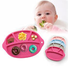 Portable Baby Toddler Divided Plate Soft Unbreakable Safe Fruit Dish Plate Witty