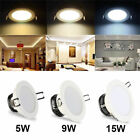 6Pcs 9W 15W LED Recessed Downlight Ceiling Down Light 3-Color Changing Spotlight