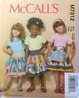 McCall's 7312 Children's/Girls Skirts  Sizes: 3-6 & 7-14  You Pick  NEW