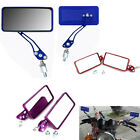Universal Motorcycle Square Handle Bar End Side Rearview Moto Mirrors