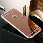 Luxury Ultra-thin Shockproof TPU Mirror Back Case Cover For iPhone 5 SE 6 7 Plus