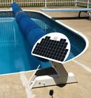 Pool Cover Blanket Reel, Solar Charged Battery, Motor Powered, Remote Controlled