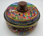 HAND CRAFTED WOODEN TORTILLA HOLDER PAINTED MEXICAN VILLAGE SCENE BEAUTIFUL!!