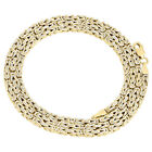 Real 10K Yellow Gold Diamond Cut Byzantine Link Chain 2.50mm Necklace 20-30 Inch