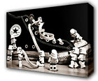 LEGO STORMTROOPERS ON TRAINER - GICLEE CANVAS ART