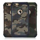 Shockproof Rugged Hybrid Rubber TPU Back Cover Case for Apple iPhone 5 6s 7 Plus