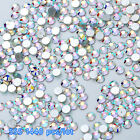 Lots Flat Back Nail Art Rhinestones Glitter Diamond Gems 3D Tips DIY Decoration