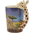 Hand Painted Animal Tea Cup Lovely Giraffe Ceramic Coffee Mug Pottery Couple Cup
