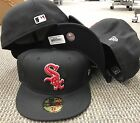 NEW ERA CAP 5950 MLB Chicago White SOX Baseball FITTED HAT 59fifty Black RED on Ebay