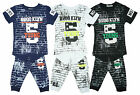 Boys Brooklyn No5 Brick Wall Print T-Shirt Top Shorts & Braces Set 4 to 14 Years