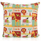 Kids New Nursery Bright Jungle Animal Zoo design Filled Cushion Various sizes
