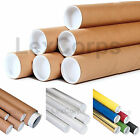 ROUND SHIPPING TUBES - Many Sizes and Colors - Case Size, End Caps Included