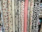 Vintage Cotton Linen Mix Upholstery Curtains Cushions Soft Furnishing Fabric 60""