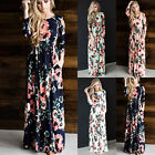 New Women Summer Vintage Boho Floral Long Maxi Party Beach Dress Floral Sundress