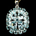 Glorious Natural Oval Cut 8x6mm Top Sky Blue Topaz 925 Sterling Silver Pendant