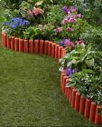 7 Ft Garden Border Fence Sets Flexible Durable Plastic Flower Bed Protection