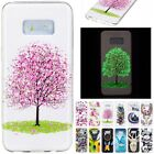 Glow at night Rubber Pattern Soft TPU Ultra-Thin Luminous Cover Case For Samsung