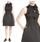 Kate Spade embellished structured fit & flare dress with bow black LBD Cocktail