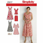 Simplicity 2917 Sewing Pattern Dress Skirt Top Misses 10-18 Woman's 20W-28W
