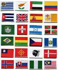 National flags emblem applique iron-on patch choose from 24