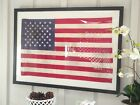 AMERICAN FLAG TEA STAINED, ANTIQUED OR PLAIN (S/M/L/XL) CUSTOM FRAMED