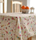 X'mas Rabbit Home Dinning Coffee Table Cotton Linen Cloth Cover Party AU