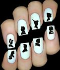 30 NAIL ART  STICKERS WATER TRANSFERS DISNEY PRINCESSES SILHOUETTE HEADS