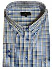 Cotton Valley cotton Rich Checked LS Shirt in Turquise Navy (15596),Size 2XL-6XL