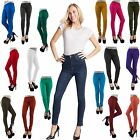New Girls Fashion Plus Size Coloured Skinny Stretch Jeans Jeggings Leggings 8-26