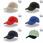 Target ZOOM plain cap in 35% cotton 65% polyester velcro adjuster in 6 colours