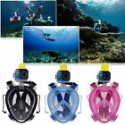 1x Full Face Snorkeling Snorkel Mask Diving Goggles With Breather Pipe For GoPro