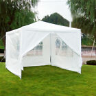 10'x10' White Canopy Removable Walls Outdoor Party Wedding Tent Gazebo Pavilion