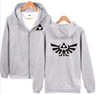 The Legend of Zelda Men Hoodie Zipper Coat Jacket Sweaters Skateboard Sweatshirt
