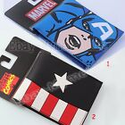 Super Hero Captain America PVC Short Purse Wallet #02