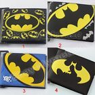 Super Hero Batman logo PVC Short Purse Wallet