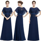 Ever-Pretty Women's Long Short Sleeve Wedding Bridesmaid Dress Prom Gown 08775
