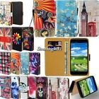 Leather Flip Card Wallet Stand Cover Case For Various Maxwest SmartPhone + Strap