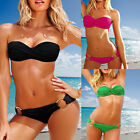 Women's Underwire Push up Bikinis Set Padded Strapless Halter Swimwear Swimsuits