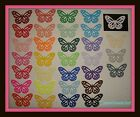 50 MARTHA STEWART PAPER MONARCH BUTTERFLIES BUTTERFLY DIE CUTS PUNCHES YOU PICK