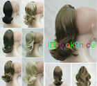 New Fashion cute Wavy 12 inches Claw Clip Extension ponytail hair pieces