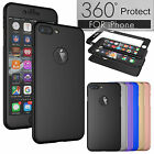 For Apple iPhone 6 6S 7 360° Full Acrylic Hard Case + Tempered Glass Phone Cover