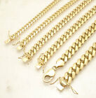 Mens Solid Miami Cuban Hand Chain Bracelet Box Lock Clasp Real 10K Yellow Gold