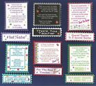 6 THANK YOU TEACHER Greeting Card Verse Toppers W/WO Matching Sentiment Banners