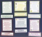 6 PRE SCHOOL  GRADUATION Greeting Verse Toppers W/WO Matching Sentiment Banners